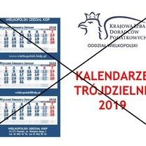 Kalendarze trójdzielne na 2019 r. nie będą wydawane