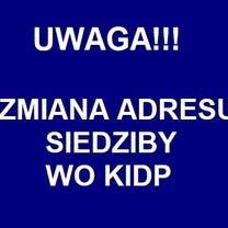 Administracyjna zmiana adresu WO KIDP (bez zmiany lokalizacji)