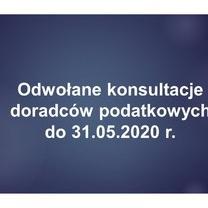 Odwołane konsultacje doradców podatkowych w Stowarzyszeniu Księgowych - do 31.05.2020 r.