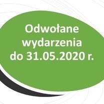 Odwołane wydarzenia organizowane przez WO KIDP - do 31.05.2020 r.