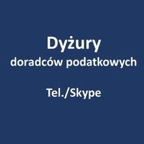 Dyżury doradców podatkowych (tel./Skype) organizowane z Urzędem Miasta Poznania - maj 2020 r.