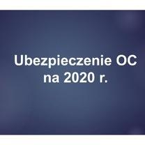 Opłata II raty za ubezpieczenie OC na 2020 r.